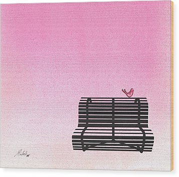 The Bench Wood Print by Daniele Zambardi