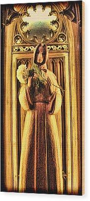 The Benedictine Monk Wood Print by Lee Dos Santos