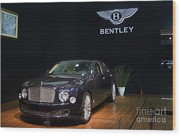 Wood Print featuring the photograph The Bentley Mulsanne Mulliner by Mohamed Elkhamisy