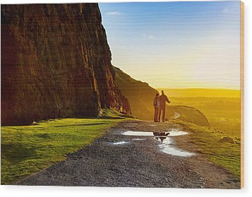 The Best Is Yet To Be - Edinburgh Wood Print by Mark E Tisdale