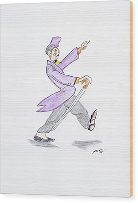 Wood Print featuring the drawing The Best Man by Artists With Autism Inc