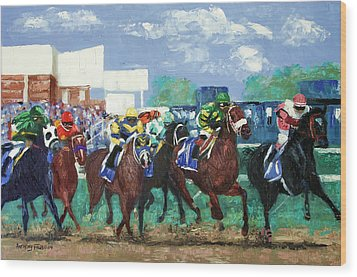 The Bets Are On Again Wood Print by Anthony Falbo