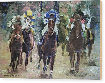 The Bets Are On Wood Print by Anthony Falbo