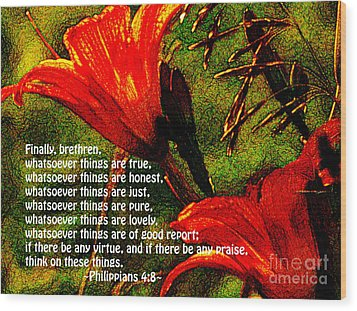 The Bible Philippians 4 Wood Print