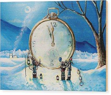 The Big Countdown Wood Print by Shana Rowe Jackson