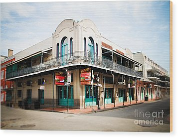 The Big Easy Wood Print by Sylvia Cook