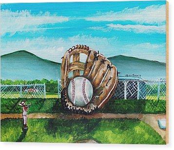 The Big Leagues Wood Print by Shana Rowe Jackson