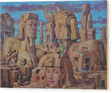The Big Sand Box Wood Print by Henry David Potwin