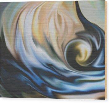 The Big Wave Wood Print by Jessie J De La Portillo