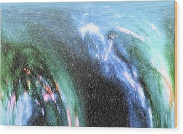 Wood Print featuring the photograph The Big Wave by Mariarosa Rockefeller