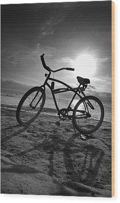 The Bike Wood Print by Peter Tellone