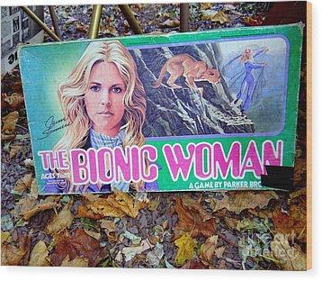 The Bionic Woman Wood Print