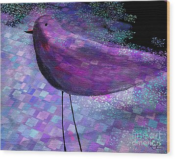 The Bird - S40b Wood Print by Variance Collections