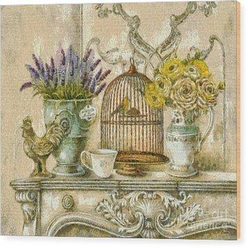The Birdcage Wood Print by Elizabeth Coats