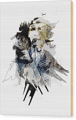 The Birdman Wood Print by Aniko Hencz