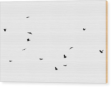 The Birds Wood Print by Jessica Brown