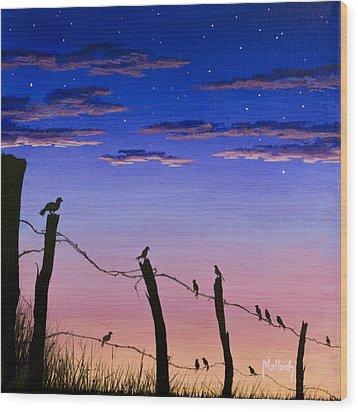 The Birds - Morning Has Broken Wood Print