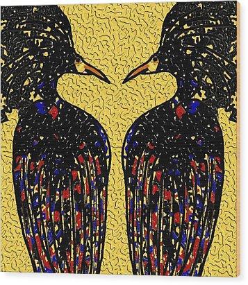 The Birds Wood Print