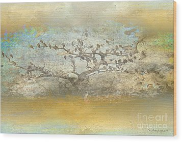 Wood Print featuring the photograph The Birdy Tree by Chris Armytage