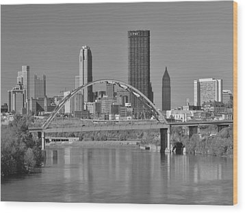 The Birmingham Bridge In Pittsburgh Wood Print by Digital Photographic Arts