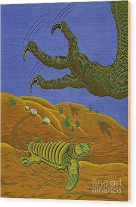 The Birth Of Archelon Wood Print by Gerald Strine