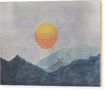 The Birth Wood Print by Sonali Gangane