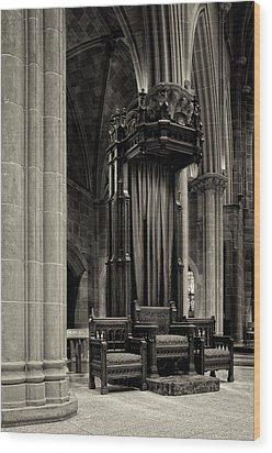 The Bishops Chair Wood Print by Dick Wood