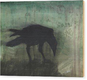 The Black Flag Of Himself Wood Print by Jim Stark