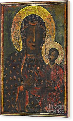 The Black Madonna Wood Print