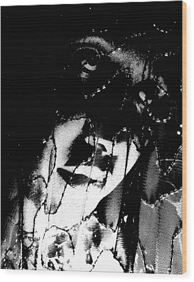 Wood Print featuring the photograph The Black Madonna by Cleaster Cotton