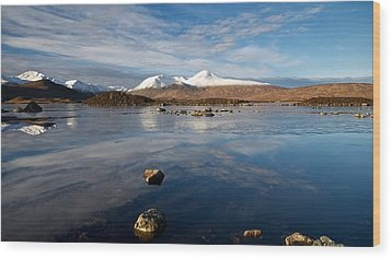 Wood Print featuring the photograph The Black Mount by Stephen Taylor