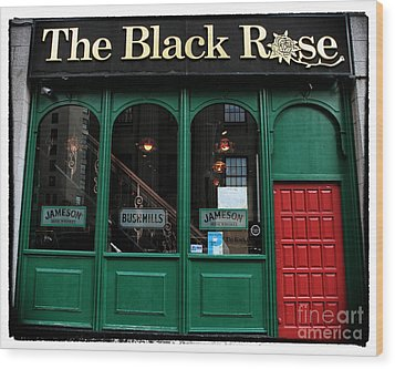 The Black Rose Of Boston Wood Print by John Rizzuto