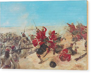 The Black Watch At The Battle Wood Print by Henri-Louis Dupray