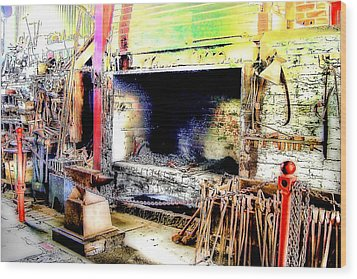 The Blacksmiths Forge. Wood Print by Trevor Kersley