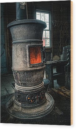 The Blacksmiths Furnace - Industrial Wood Print by Gary Heller