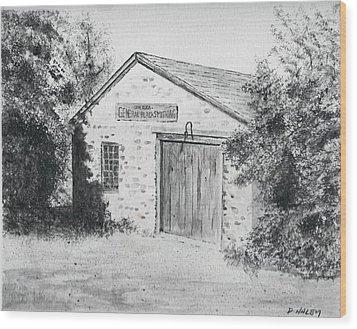 The Blacksmith's Shop Wood Print by Dan Haley