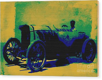 The Blitzen Benz Racer - 20130208 Wood Print by Wingsdomain Art and Photography