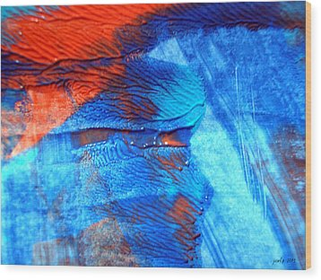 The Blue And Red Affair Acryl Knights Wood Print by Sir Josef - Social Critic -  Maha Art