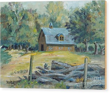 The Blue Barn Wood Print