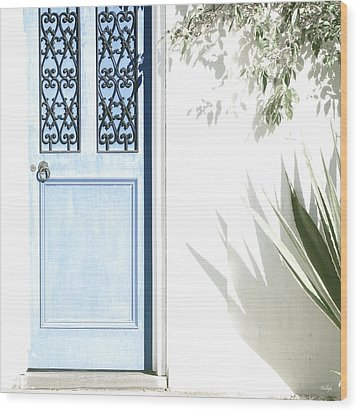 The Blue Door Wood Print by Holly Kempe