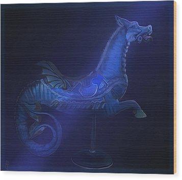 The Blue Dragon Wood Print by Hazel Billingsley