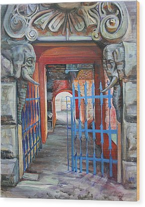 The Blue Gate Wood Print