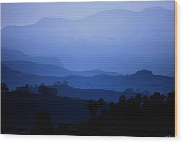 Wood Print featuring the photograph The Blue Hills by Matt Harang