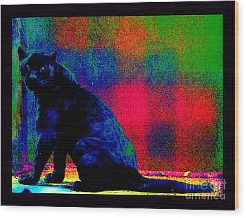 The Blue Jaguar Wood Print by Susanne Still