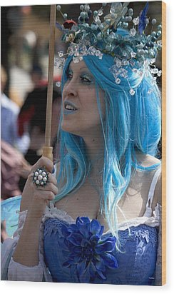 The Blue Lady Wood Print by Ivete Basso Photography