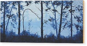 The Blue Lake Wood Print by Graham Gercken