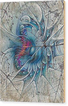 The Blue Mirage Wood Print by Deborah Benoit
