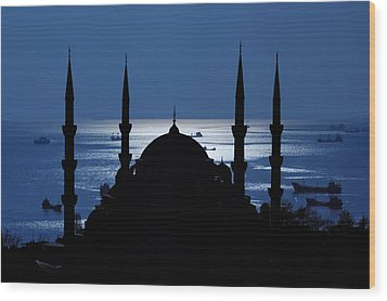 The Blue Mosque Wood Print by Ayhan Altun