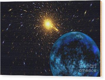 The Blue Planet Wood Print by Klara Acel