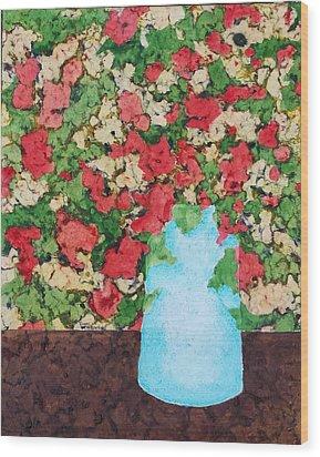 The Blue Vase Wood Print